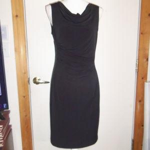 Calvin Klein Cowl Neck Ruched Dress  M